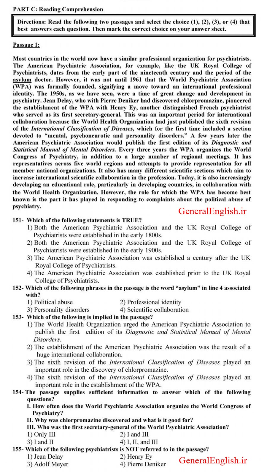 سوالات درک مطلب دکتری 96 کلید زبان دکتری 96